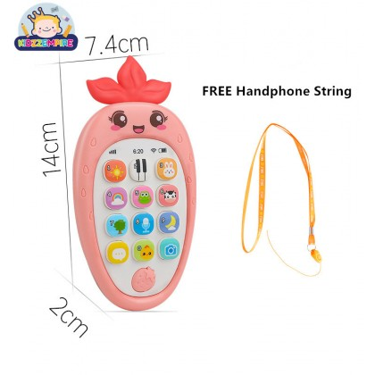 Kidzzempire Kids Toys Mobile Phone Early Learning English Music Numbers Smart Phone Handphone Educational Toys TOY024