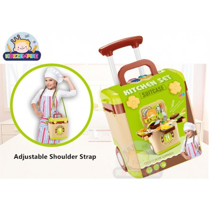 Kidzzempire Kids Toys Kitchen Cooking/Make Up/Repair Work/Dessert Suitcase Shoulder Bag Music and Light Pretend Play Playset TOY026