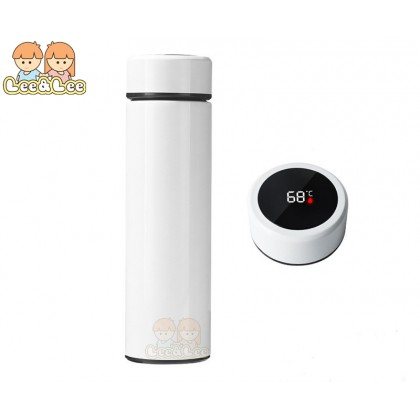 LED Smart Temperature Display 500ml Stainless Steel Vacuum Thermal Flask Insulation Thermal Bottle Hot Bottle Cup Upgraded Version 12 Hours HAL136