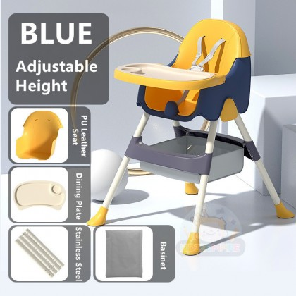 Kidzzempire Exclusive Baby High Chair Feeding Seat Multifunction Baby Dining Chair with Tray & Basinet Adjustable Height BAB067