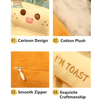 Smiley Cheese Toast Car Seat Cushion Heightening Chair Seat Cushion Back Support Pillow Office Chair Seat Cushion HAL140