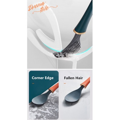 Wall Mount Toilet Bowl Brush Automatic TPR Toilet Brush Cleaner Flexible Cleaning HAL164