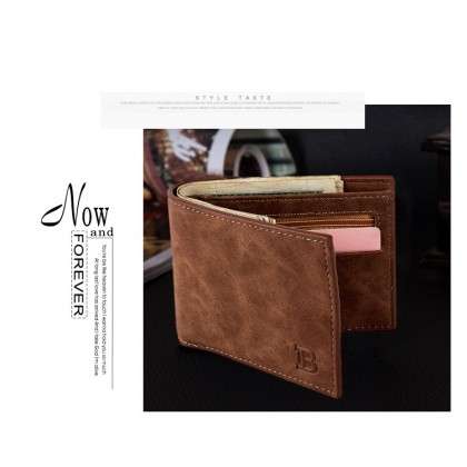 American Style B Logo Men Wallet with Coin Pocket