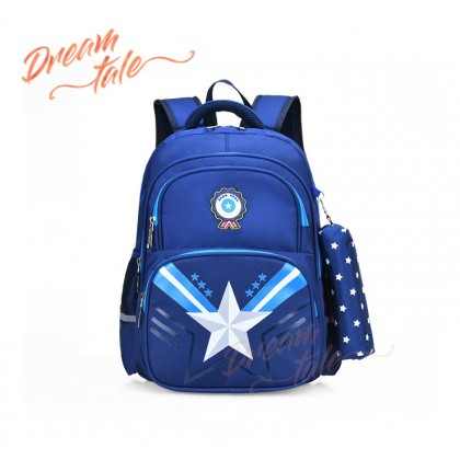 Dreamtale Kids Primary Backpack Shiny Big STAR Free Pencil Case Backpack School Bag KID033