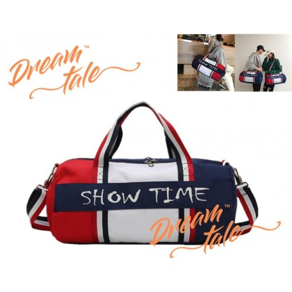 Dreamtale Travel Bag SHOW TIME Colour Block Duffel Bag Gym Bag Travel Bag TVL034