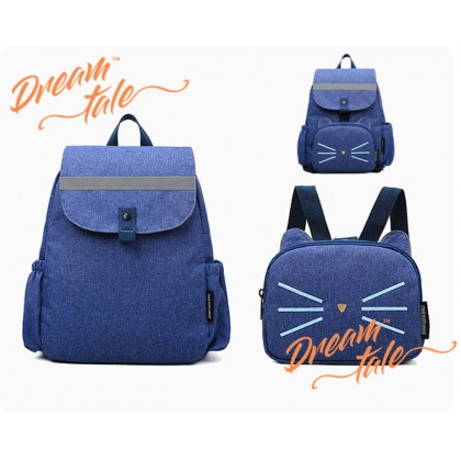 Dreamtale Cat Design 2 in 1 Mummy Diaper Bag Backpack with Kids Harness Bag Backpack BAB005